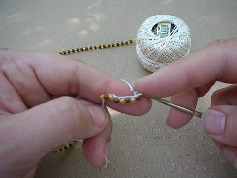 Вязание бисерного жгута крючком - 10