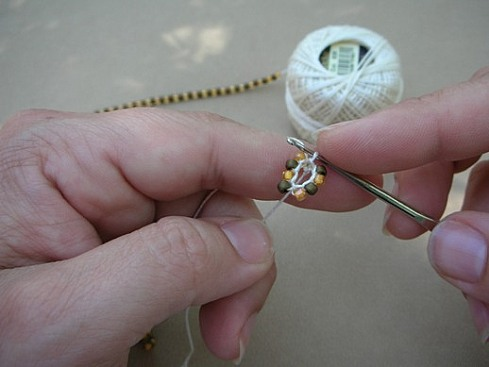 Вязание бисерного жгута крючком - 11