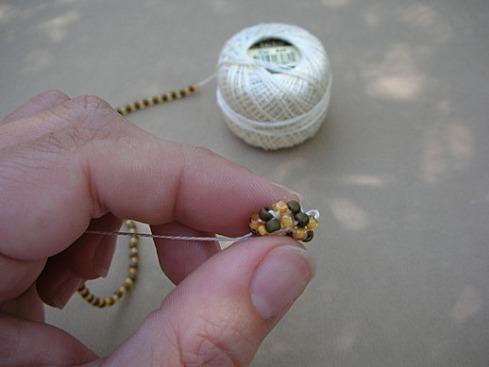Вязание бисерного жгута крючком - 16