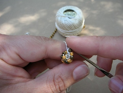 Вязание бисерного жгута крючком - 17