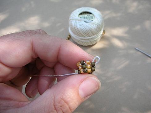 Вязание бисерного жгута крючком - 18