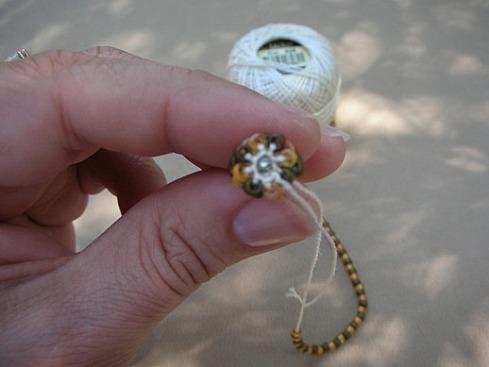 Вязание бисерного жгута крючком - 19