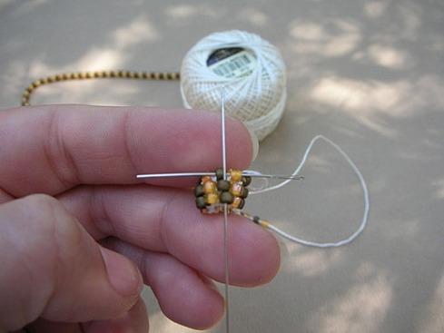 Вязание бисерного жгута крючком - 20