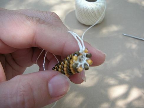 Вязание бисерного жгута крючком - 22