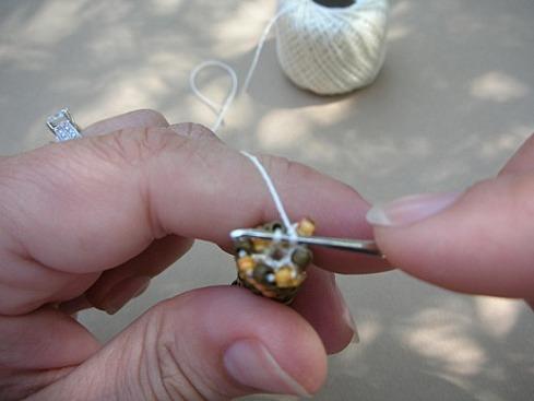 Вязание бисерного жгута крючком - 23