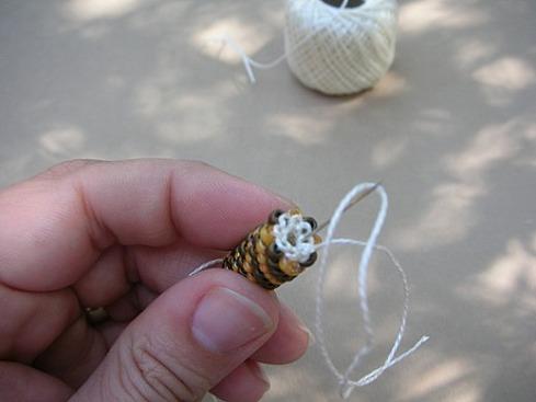 Вязание бисерного жгута крючком - 25