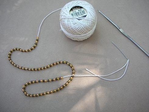 Вязание бисерного жгута крючком - 6
