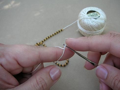 Вязание бисерного жгута крючком - 7