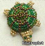 Черепашка из бисера. Схема плетения